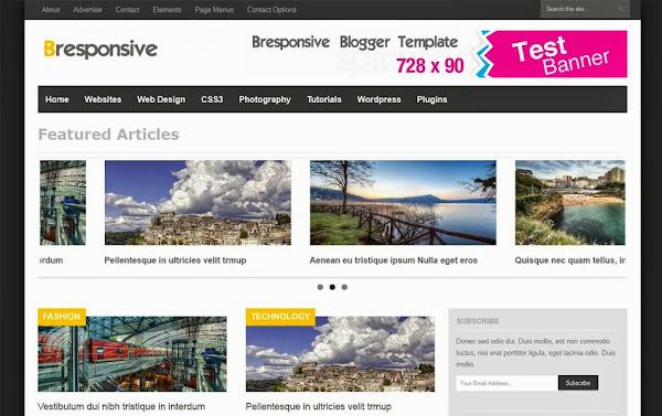 Bresponsive – Responsive Premium Magazine Blogger Template