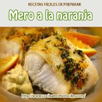 Recetas de Pescados y mariscos , mero,aceite,naranjas,pimientos,cebolla,perejil,naranja,cubito caldo,sal,pimienta