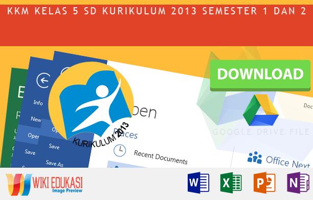 KKM Kelas 5 KURIKULUM 2013 Hasil Revisi Terbaru 2015