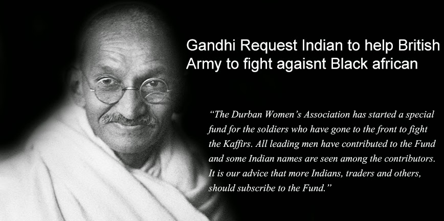 anti black quote of gandhi