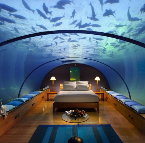 Habitaciones submarinas en las Maldivas