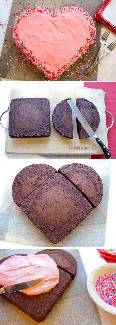 Как из торта сделать форму сердца для 626