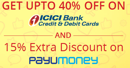 ICICI Card Holders :  Great discounts on shopping, food, entertainment, Fashion and Travel