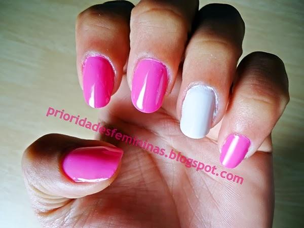 unhas rosa, nail art, decoração