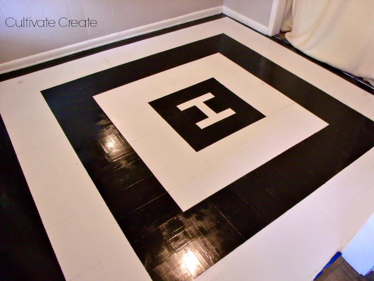 Cultivate Create Painted Parquet Floor Part 2