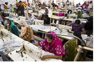 Growth in clothing industry in Bangladesh