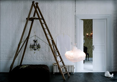 ladder decor for living room