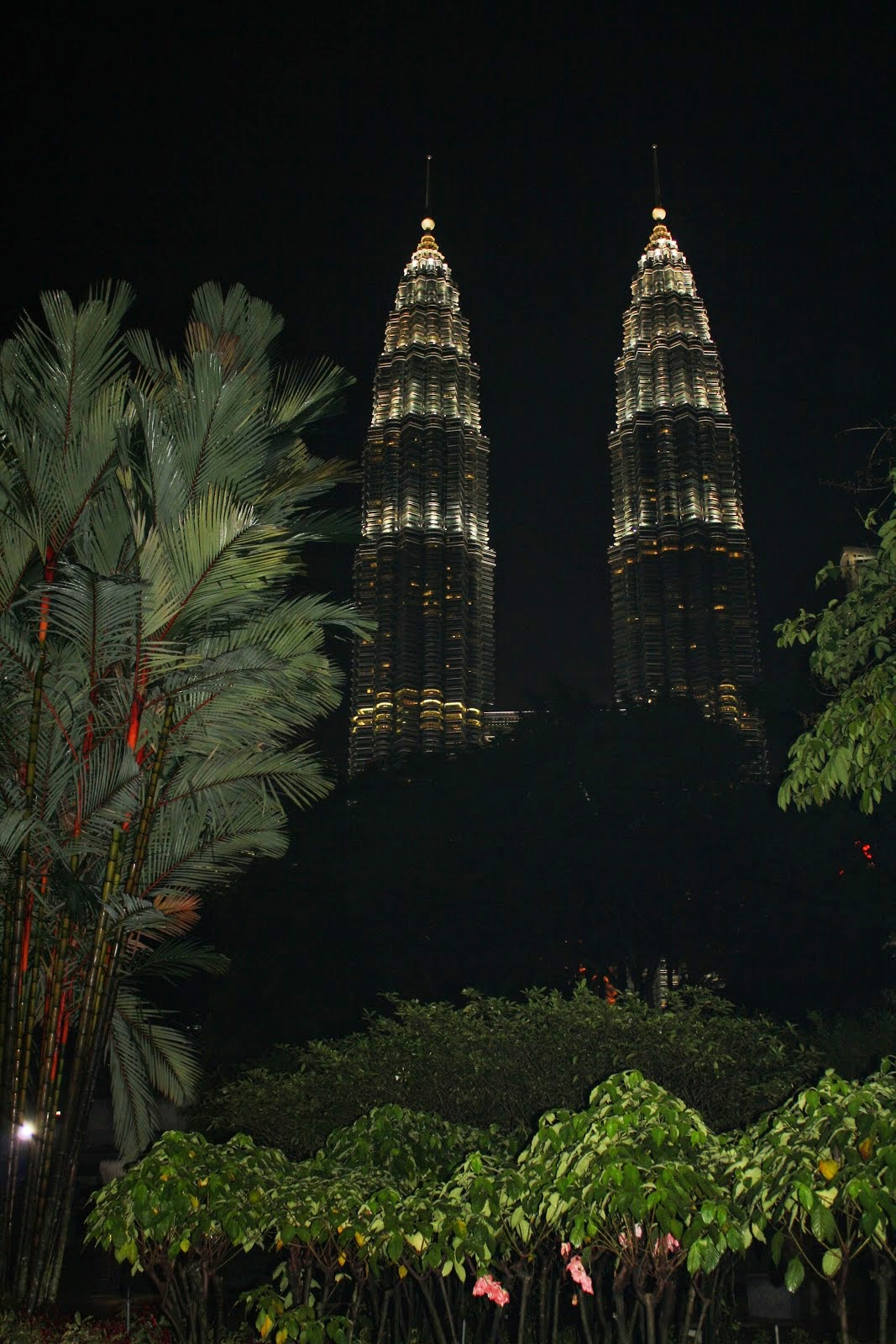torres petronas de noche en kuala lumpur