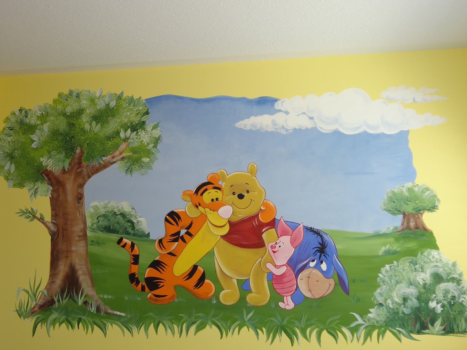 magic on the wall murals for children winnie the pooh 3. Black Bedroom Furniture Sets. Home Design Ideas