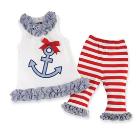 Mud Pie Anchor Outfit