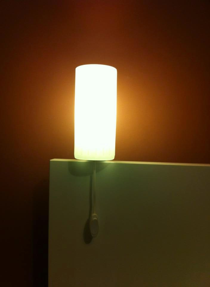 Night Lamp On A MALM Bed