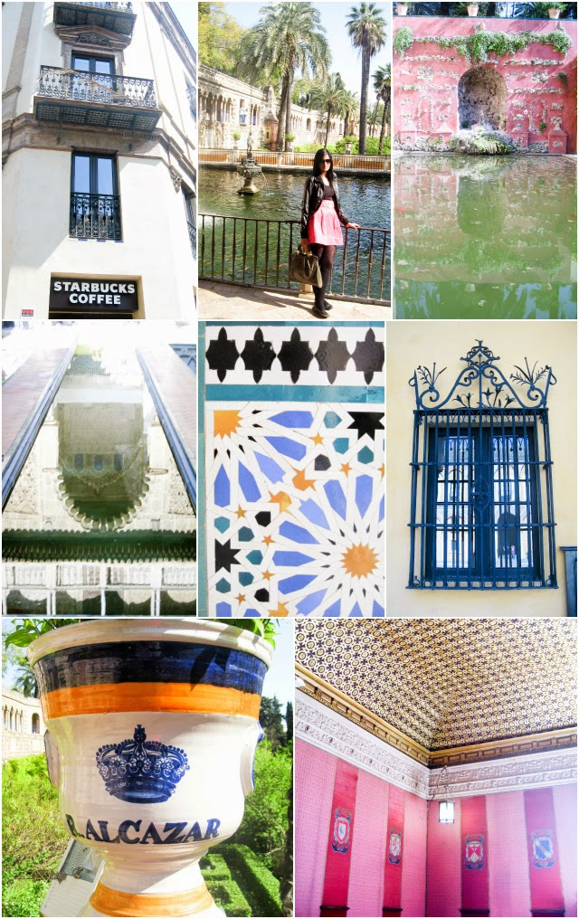 Travel Spain: Beautiful moorish architecture of Real Alcazar, Sevilla / Seville