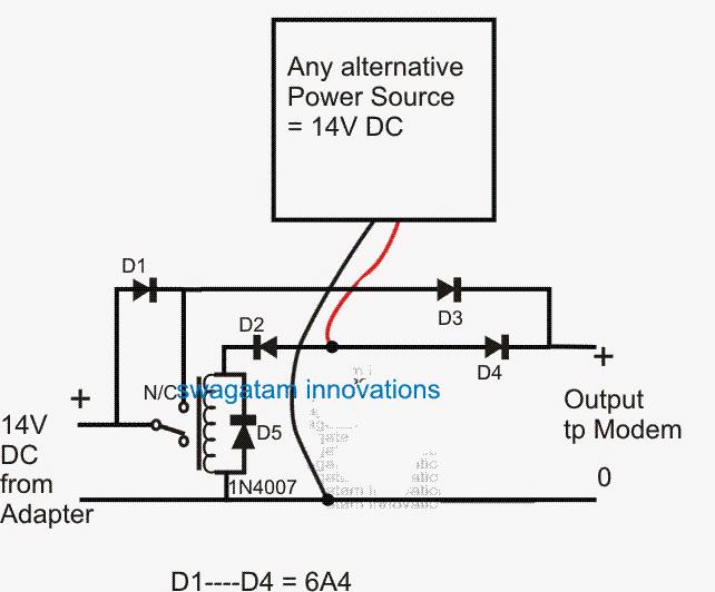redundant ups circuit