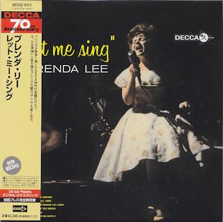 BRENDA LEE - LET ME SING (DECCA 1963) Jap mastering cardboard sleeve