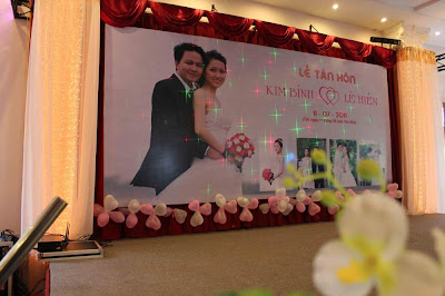 In Backdrop đám cưới