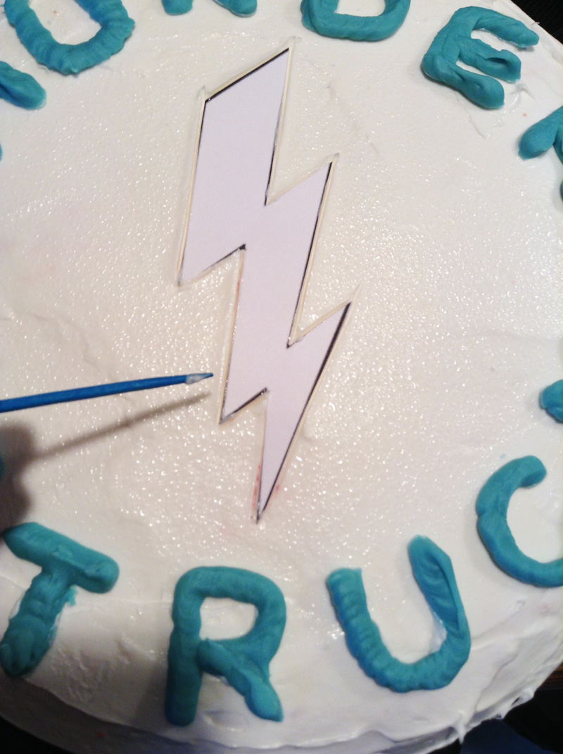 lightning bolt cake