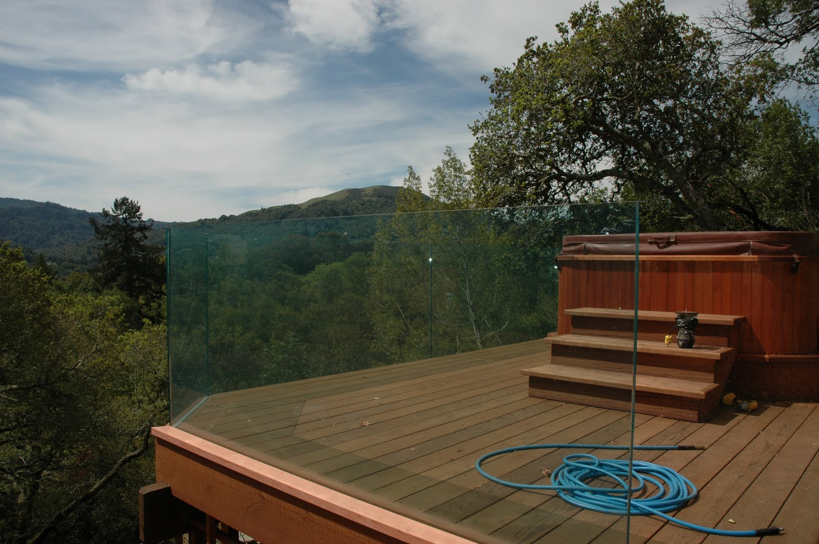 Glass railings for decks - 3 4 Deck Railing Glass System With Dupont Sentry Interlayer
