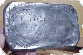 Coffin Plate Of Eleaza Albee 1884