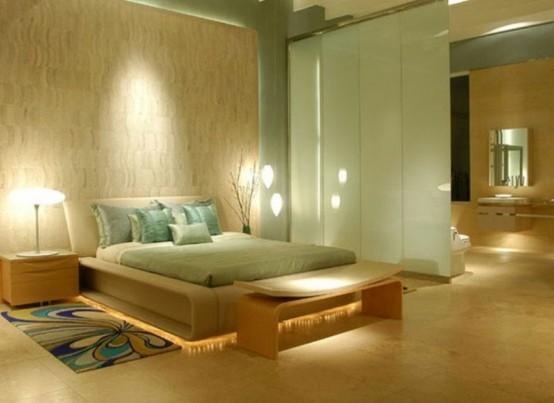 Decoracion Zen Dormitorio ~ Mobilyalar sade d?z ?izgiler hakimdir Alti dogal ahsap yataklar