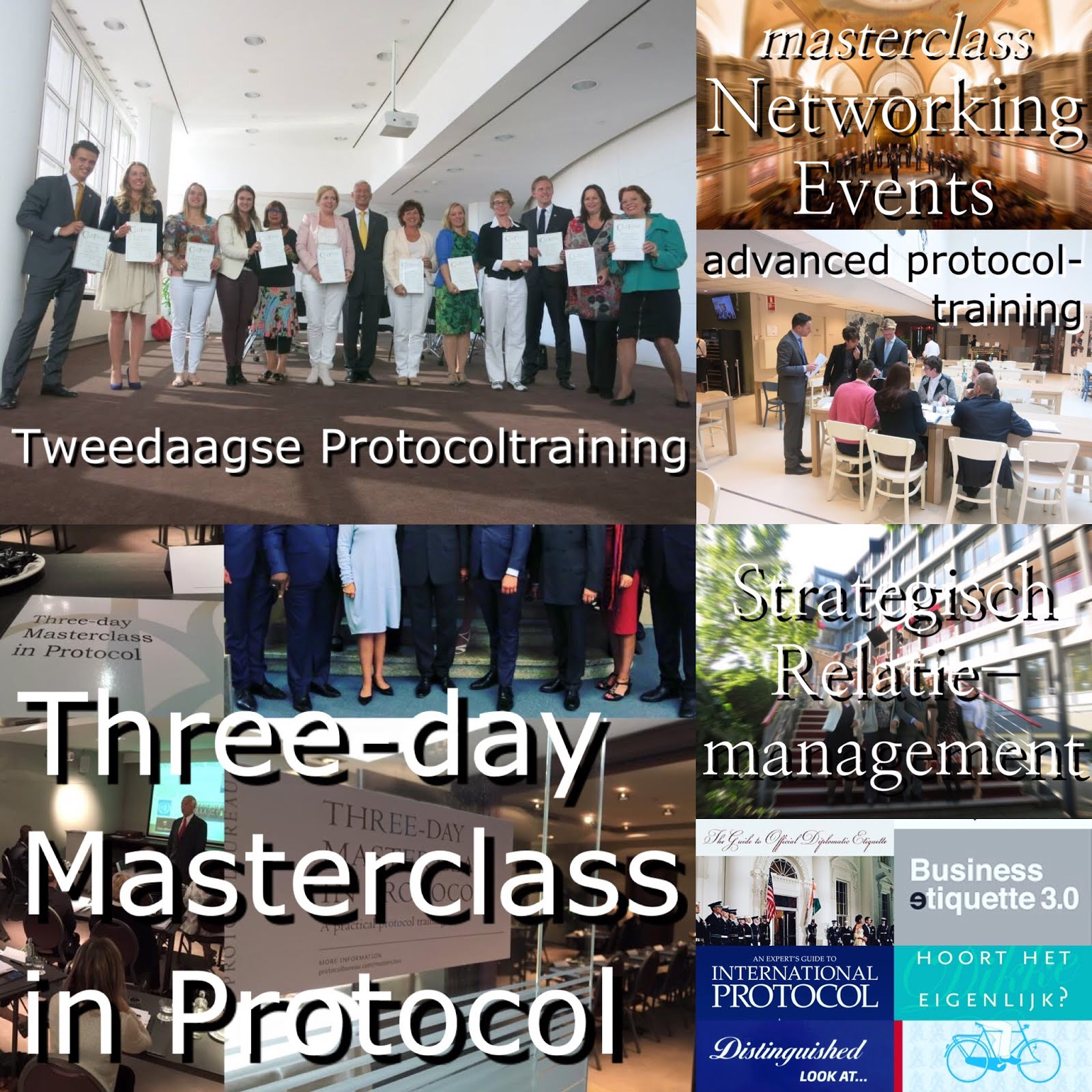 Training programme of Protocolbureau:
