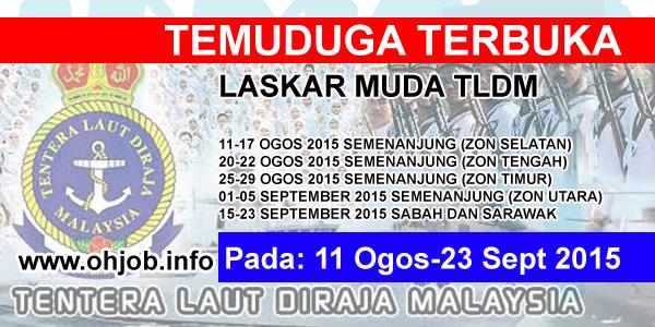 Jawatan Kerja Kosong Tentera Laut DiRaja Malaysia (TLDM) logo www.ohjob.info ogos september 2015