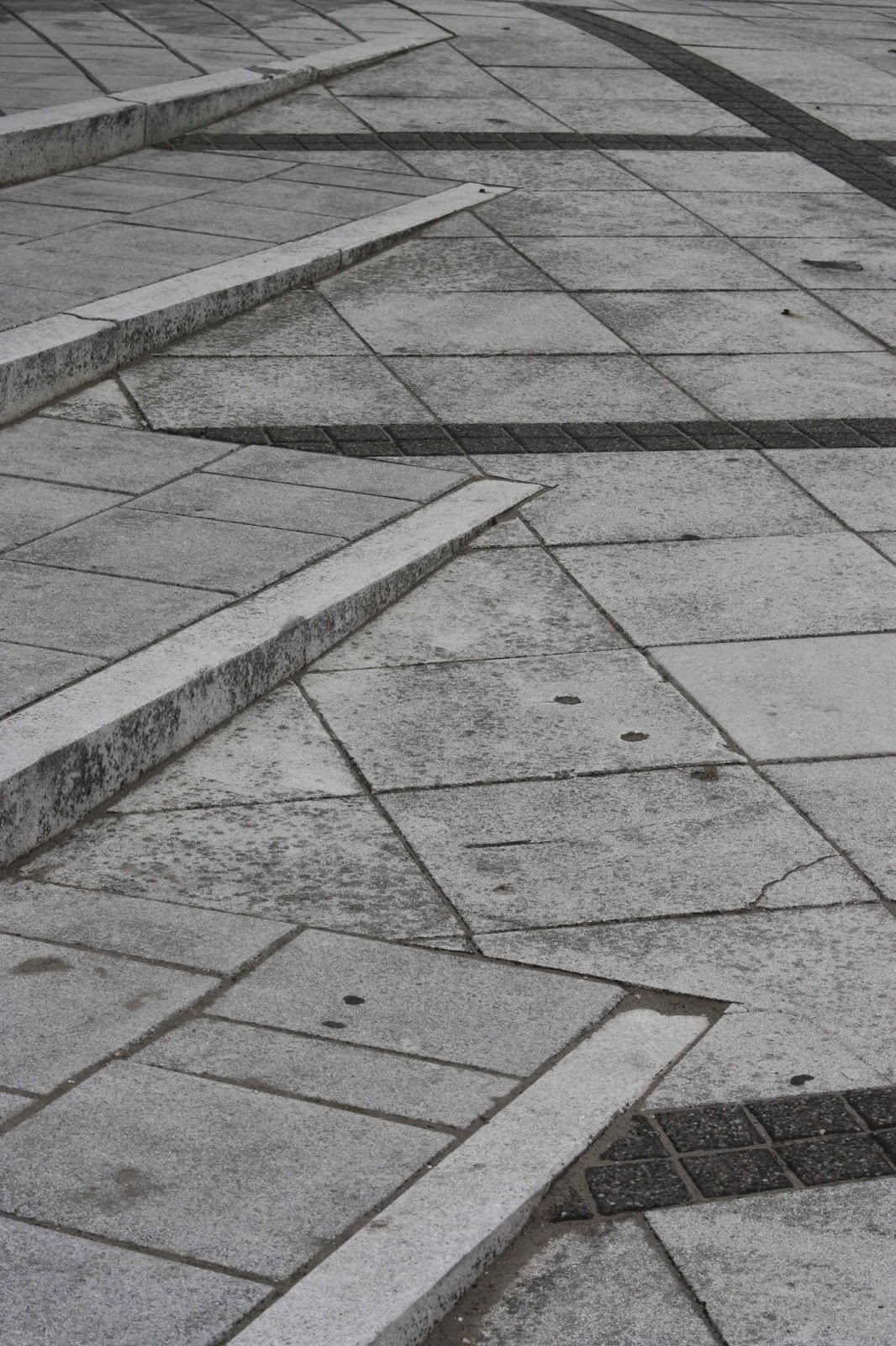 triangles in sidewalk