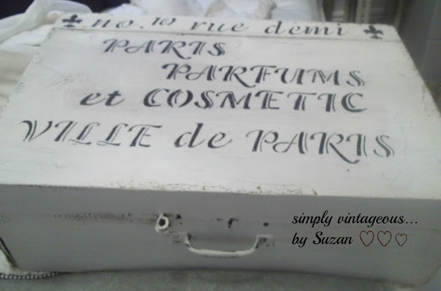 DIY, Parisien address, storage box, white washed