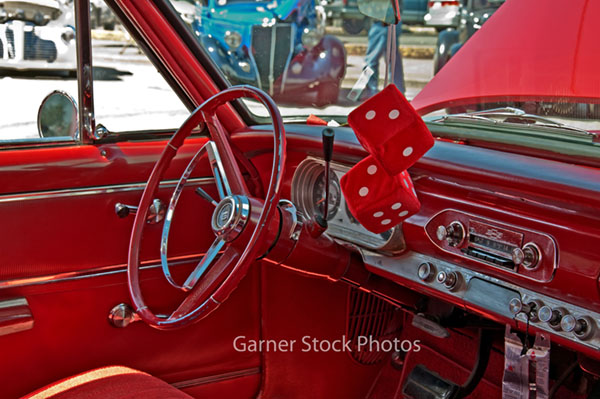 stock and fine art photos retro chevy red car interior. Black Bedroom Furniture Sets. Home Design Ideas