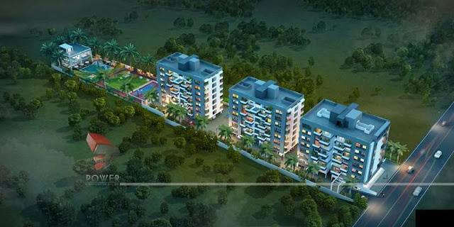 Birds View Of Apartment/Township