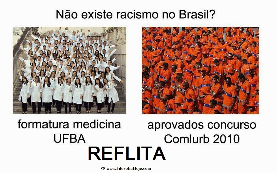 E o racismo? Racismo+no+brasil+existe