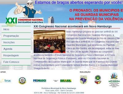 Click aqui para acessar o Site do XXI Congresso das Guardas Municipais.