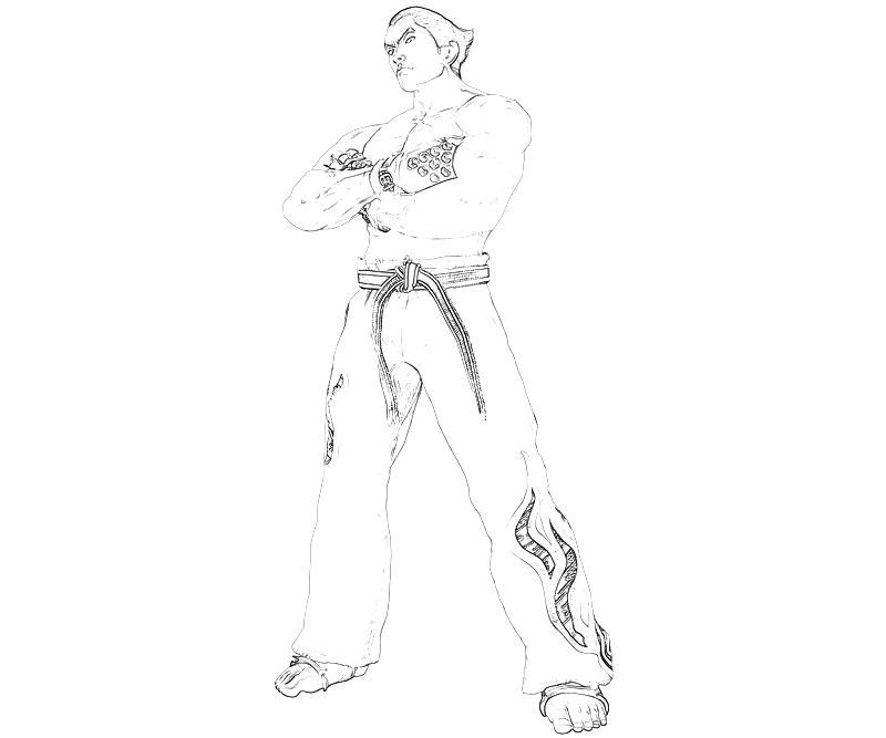 tekken-kazuya-mishima-character-coloring-pages