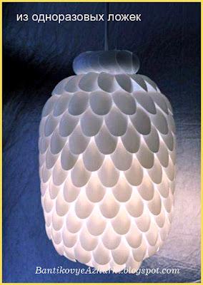 лампа своими руками из одноразовой посуды