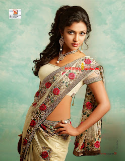 Amala Paul in Saree magazine scans Mathrubhumi Star and Style magazine