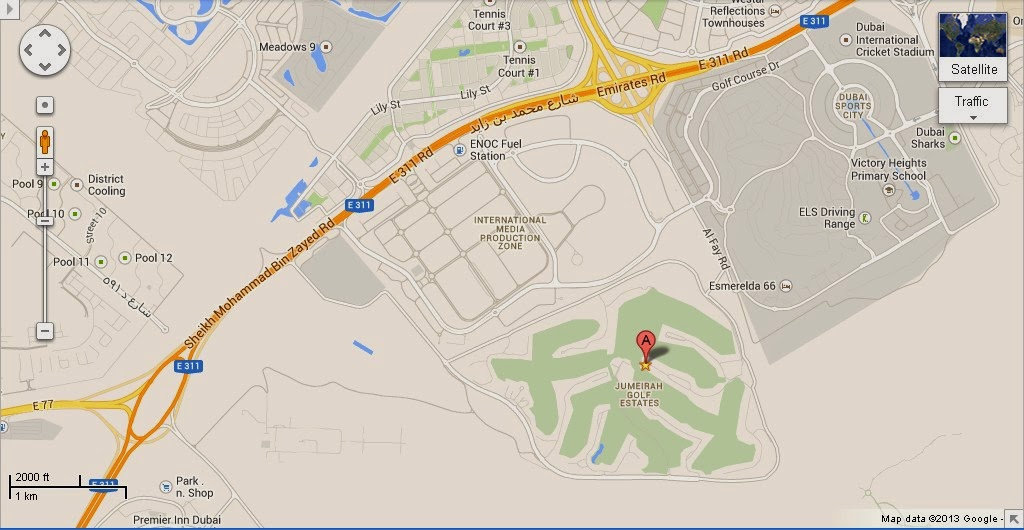 detail jumeirah golf estates dubai location map uae dubai metro city streets hotels airport. Black Bedroom Furniture Sets. Home Design Ideas