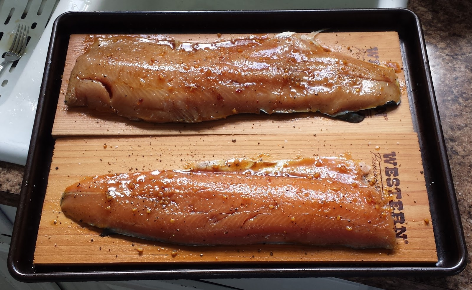 You have to cook it right cedar plank trout with a soy for Grilling fish on cedar plank