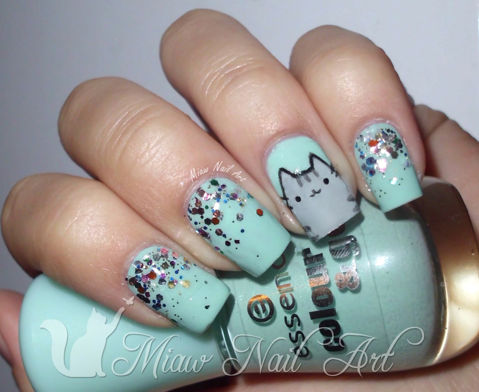 Pusheen nails | Miaw Nail Art