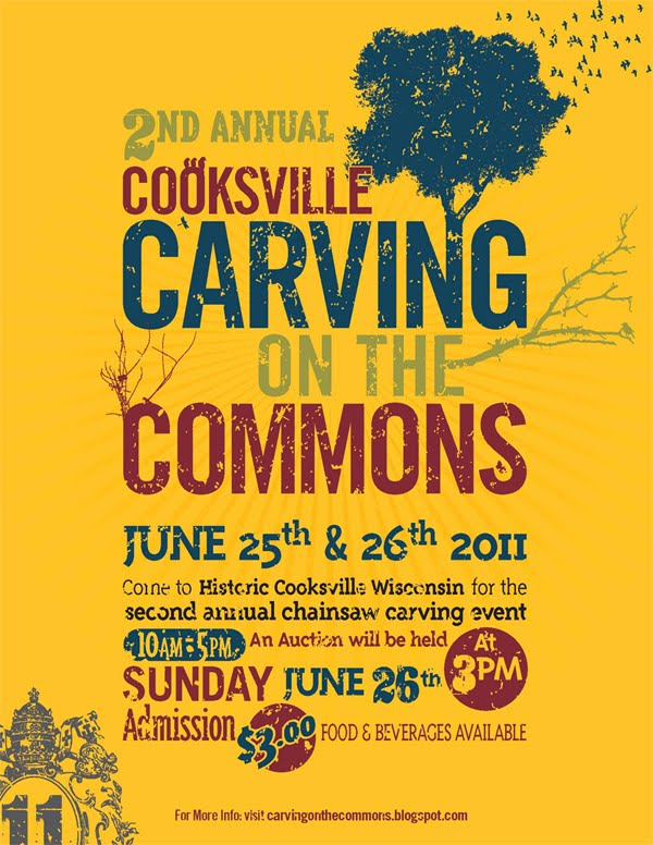 2nd Annual Cooksville Carving on the Commons June 25-26, 2011
