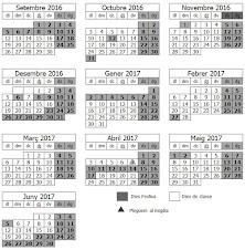 Calendari escolar 16/17