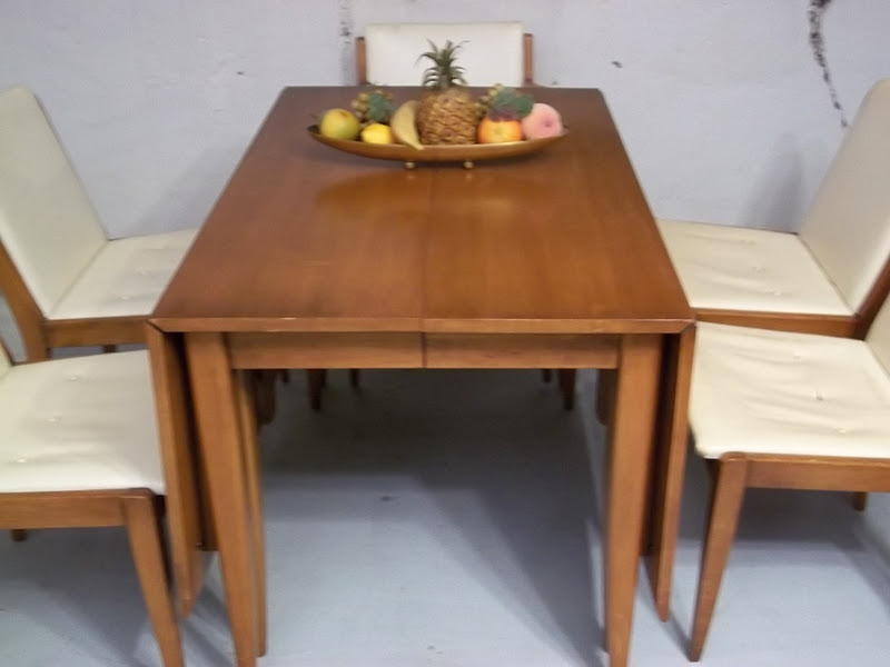 Willett Impact Mid Century Danish Inspired Drop Leaf Table With 6 Chairs Sold Gatyo Retro