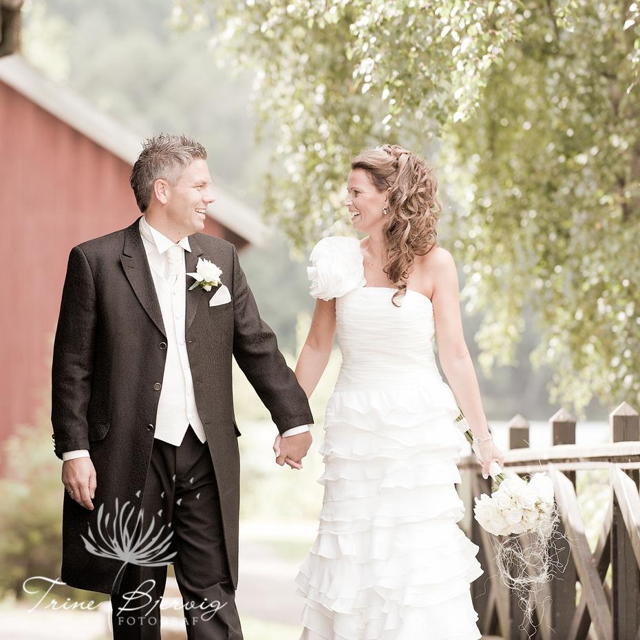 Bryllupsbilder fra Eidsfoss, Bryllupsfotograf Trine Bjervig, Tønsberg