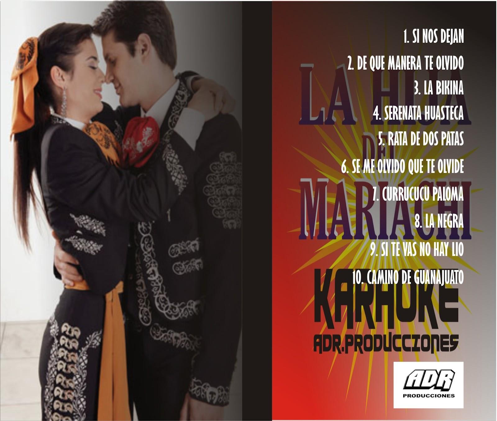 karaokes de la hija del mariachi