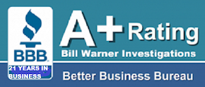 Sarasota Private Investigator Bill Warner has A+ rating with BBB