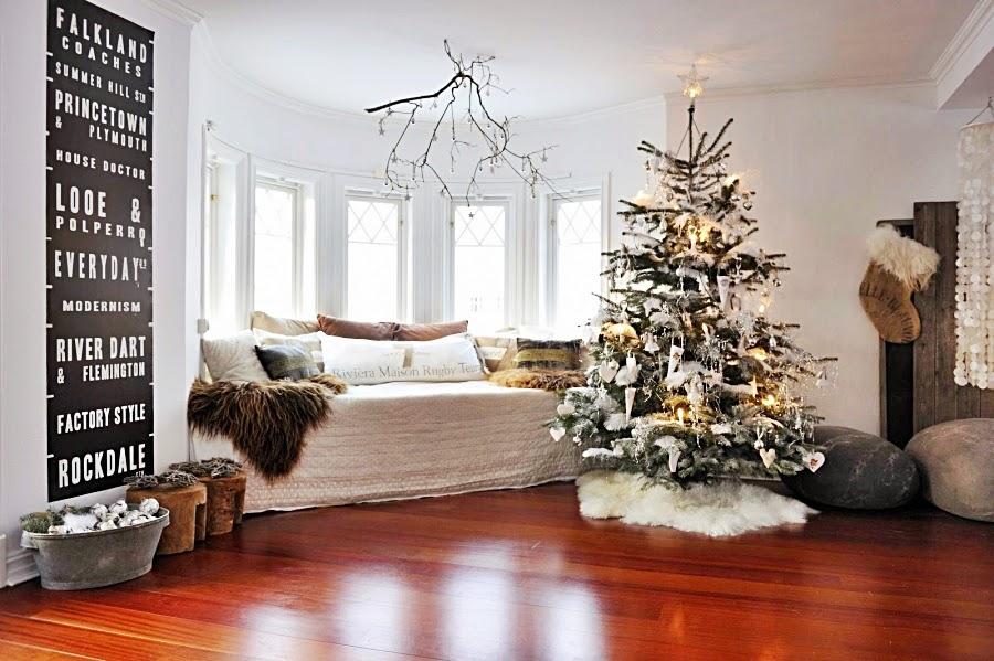 wystrój wnętrz, home decor, wnętrza, urządzanie mieszkania, scandi, nordic, styl skandynawski, święta, Boże Narodzenie, dekoracje świąteczne, salon, choinka