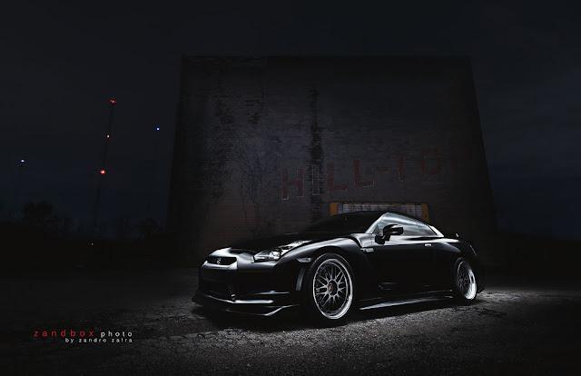 Nissan GT-R, godzilla, japońskie supersamochód, benchmark dla supercarów, V6 twinturbo, fotki samochodów w nocy