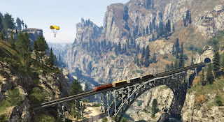 Grand Theft Auto V  train bridge gta 5