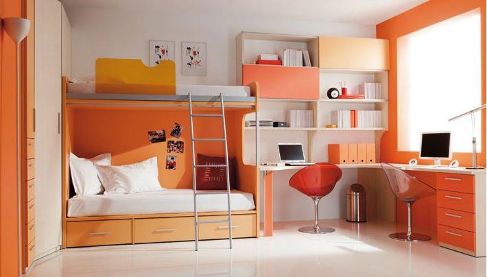 El blog de la adolescente decoraci n habitaciones para - Habitaciones color naranja ...