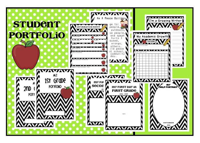 lory 39 s 2nd grade skills student portfolio freebie. Black Bedroom Furniture Sets. Home Design Ideas