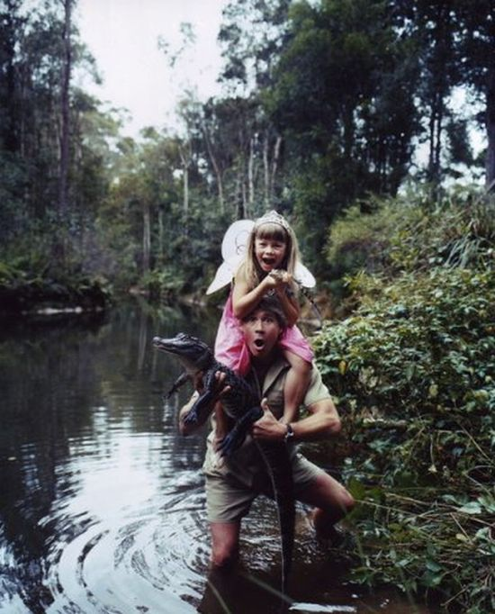 Bindi Irwin and she is daughter of Steve Irwin
