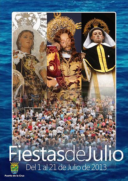 Cartel y Programa de las Fiestas de Julio de Puerto de la Cruz 2013